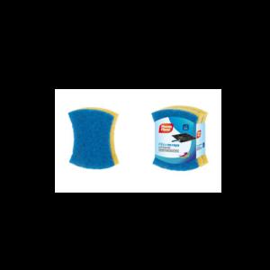 Eponge fibre Bleu x2